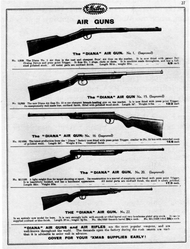 Diana Airguns – Pre War Catalogues, Brochures | Diana