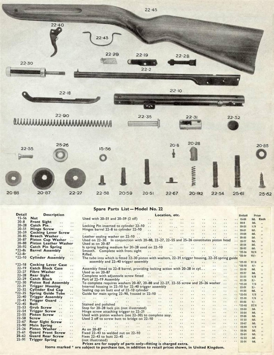 diana / milbro airguns manuals | diana resources | vintage ... chevy 34 engine diagram diana model 34 parts diagram