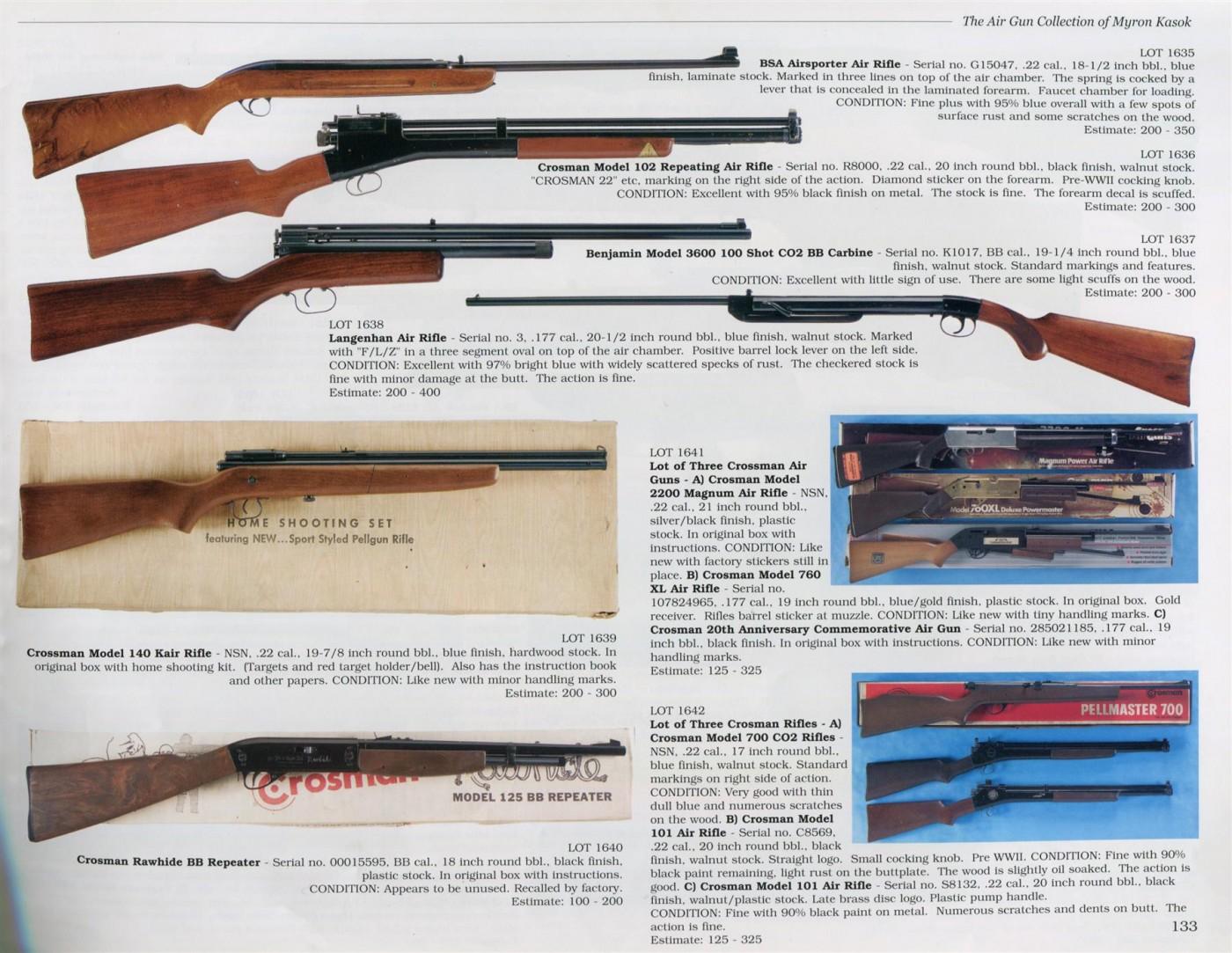 Myron Kasok airgun collection – auctioned 2003 | Rock Island