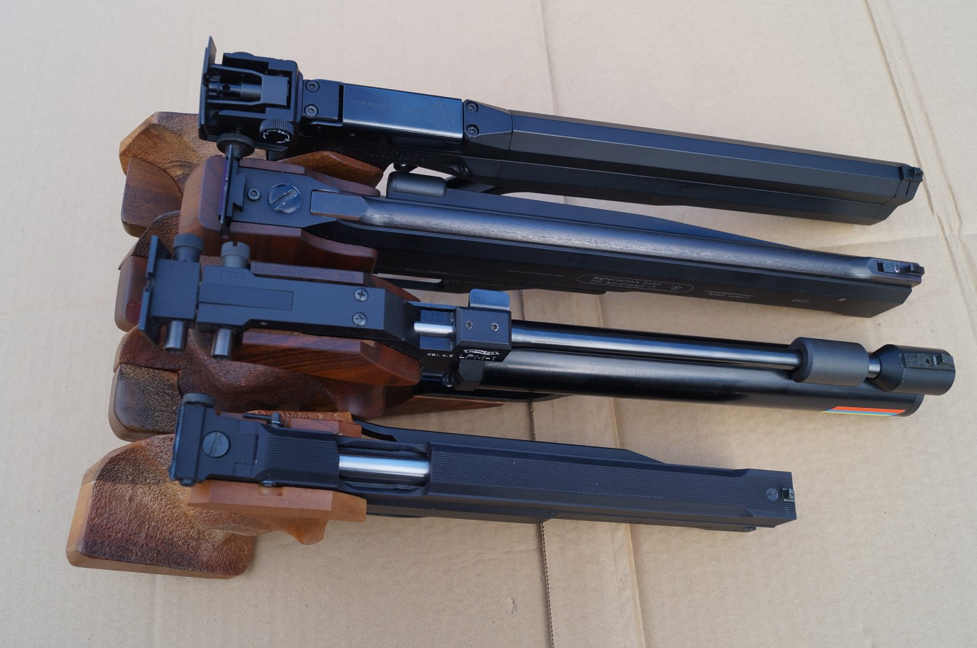 Collection of 10m single-stroke pneumatic air pistols